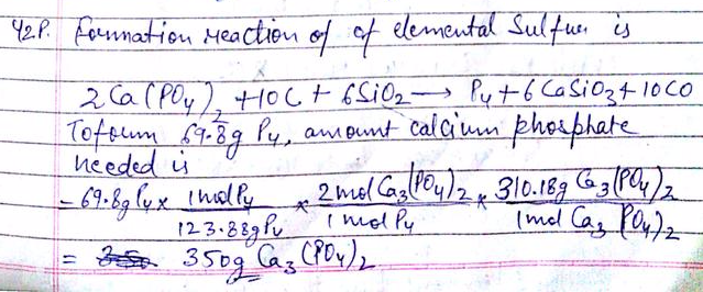 Elemental Phosphorus Can Be Prepared From Calcium Phosphate Via The Overall Reaction 2 Ca3 Po4 2 6 Sio2 10c 6 Casio3 P4 10 Co Calculate The Minimum Mass Of Is formed by the complete neutralization of phosphoric acid with slaked lime and subsequent filtration, drying, and grinding. elemental phosphorus can be prepared