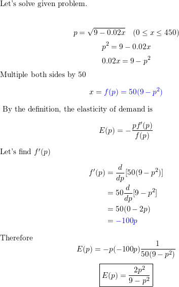 Begin Array L Text The Demand Function For A Certain